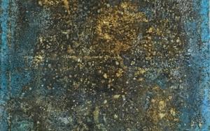 Composición en tonos marrón y turquesa PinturadeEnric Correa  Compra arte en Flecha.es