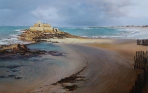Saint Malo-atardecer|PinturadeCarmen Nieto| Compra arte en Flecha.es