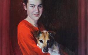 LUCIA Y SHIBA|PinturadeÁNGELES CERECEDA| Compra arte en Flecha.es