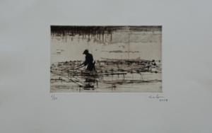 Pescadores de Bagamoyo n 3|Obra gráficadeCalo Carratalá| Compra arte en Flecha.es