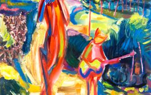 Fauns musicians, Inspiración de la naturaleza, color y expresión.|PinturadeMaciej Cieśla| Compra arte en Flecha.es