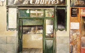 Fábrica de Churros- Cava baja- Madrid|PinturadeTOMAS CASTAÑO| Compra arte en Flecha.es