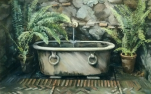 Fuente en Alcazaba-Malaga|PinturadeCarmen Nieto| Compra arte en Flecha.es