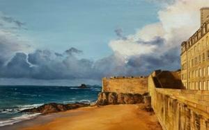Saint Malo al atardecer|PinturadeCarmen Nieto| Compra arte en Flecha.es