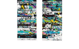 Celeste Interferences|PinturadeAna Dévora| Compra arte en Flecha.es