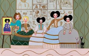 """""""Las Matildas y el misterio de las Meninas"""" PinturadeÁngela Fernández Häring  Compra arte en Flecha.es"""