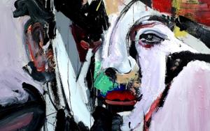 La Negra Flor|PinturadeFRANCISCO ALARCÓN| Compra arte en Flecha.es