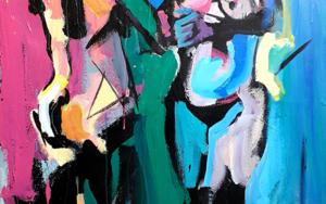 Las Dos Gracias|PinturadeFRANCISCO ALARCÓN| Compra arte en Flecha.es