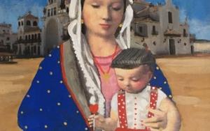 Virgen Guapa Rociera|PinturadePaco Sánchez| Compra arte en Flecha.es
