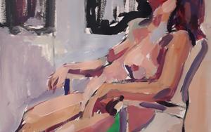 Desnudo sentado|PinturadeFRANCISCO ALARCÓN| Compra arte en Flecha.es