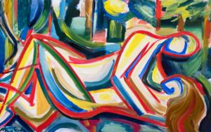 Amantes en la naturaleza PinturadeMaciej Cieśla  Compra arte en Flecha.es