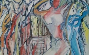 Tanz Haar kämmend PinturadeGabriel José Vale  Compra arte en Flecha.es