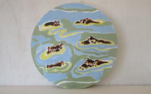 Hippos PinturadeMiguel Costales  Compra arte en Flecha.es