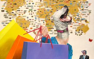 Guau, guau, guau!|PinturadeSilvia Viana| Compra arte en Flecha.es