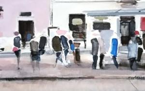 Waiting in Warsaw PinturadeSaracho  Compra arte en Flecha.es