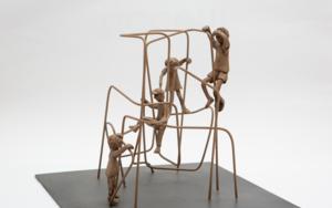 Subir muy alto. Serie Plazas EsculturadeAna Valenciano  Compra arte en Flecha.es