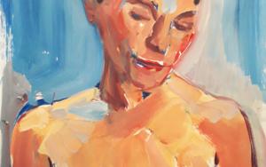 BUSTO DE MUJER DESNUDA|PinturadeFRANCISCO ALARCÓN| Compra arte en Flecha.es