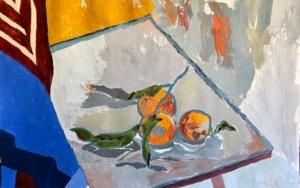 NARANJAS Y PAÑUELO|PinturadeIraide Garitaonandia| Compra arte en Flecha.es