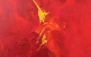 Tensiones en rojo|PinturadeEnrique Pazos| Compra arte en Flecha.es