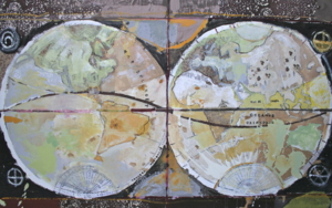Mapa Mundi|CollagedeCalonje| Compra arte en Flecha.es