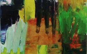 A Mysterious Abstract Painting|PinturadeFrancisco Santos| Compra arte en Flecha.es