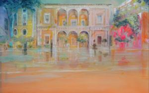 Patio Cálido|PinturadeMaria Bejarano| Compra arte en Flecha.es