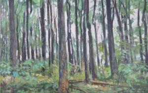 bosque, de la serie bosques de los Apalaches de EEUU Pinturadejose luis fernandez sanchez  Compra arte en Flecha.es