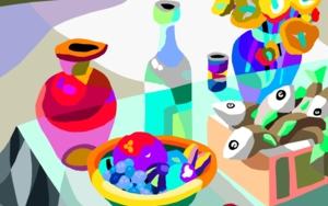 Bodegón con peces|DibujodeALEJOS| Compra arte en Flecha.es