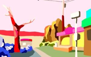 La pequeña tienda|DibujodeALEJOS| Compra arte en Flecha.es
