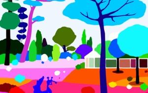 Parque Marechal Carmona|DibujodeALEJOS| Compra arte en Flecha.es