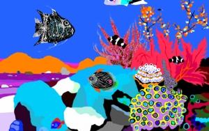 Peces de ciudad II DibujodeALEJOS  Compra arte en Flecha.es