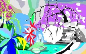 Estanque japonés|DibujodeALEJOS| Compra arte en Flecha.es