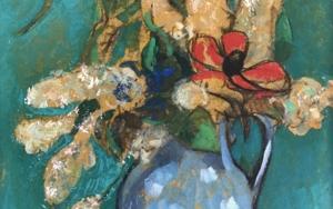 Anémona Roja|PinturadeSara Chamón| Compra arte en Flecha.es