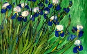 Iris sobre Verde PinturadeSara Chamón  Compra arte en Flecha.es