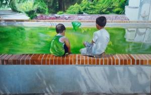 ATRAPANDO AL REY|PinturadeENRIQUE RAGEL| Compra arte en Flecha.es