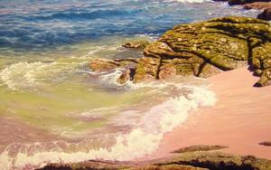 Islas Cies|PinturadeTomás Guzmán| Compra arte en Flecha.es