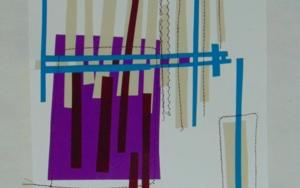No pixel morao y beige|CollagedeFabiana Zapata| Compra arte en Flecha.es