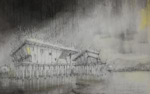 El monstruo del lago.|DibujodeRosario Rodriguez| Compra arte en Flecha.es
