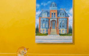 El Gato Amarillo|PinturadeRosa Alamo| Compra arte en Flecha.es
