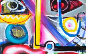 retrato abstracto Ciesla 2019 PinturadeMaciej Cieśla  Compra arte en Flecha.es