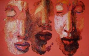 Pareja y solitario, ( Serie Diáspora) PinturadeJuan Chamizo  Compra arte en Flecha.es