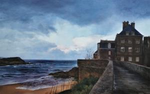 Saint Malo-paseo por la muralla PinturadeCarmen Nieto  Compra arte en Flecha.es