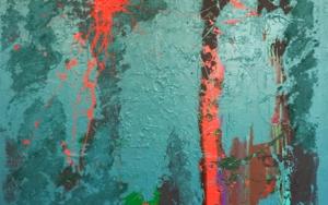 AZUL Y CÉLULAS|PinturadeALFREDO MOLERO DOVAL| Compra arte en Flecha.es