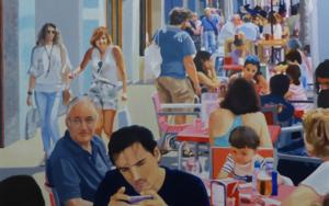 terraza con niño PinturadeJose Belloso  Compra arte en Flecha.es