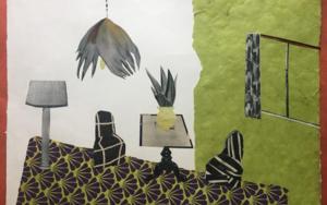 Habitación Pistacho|CollagedeMero Pil Pil| Compra arte en Flecha.es