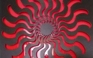 EYE 2 (Black/Red)|CollagedeGeometricarte| Compra arte en Flecha.es