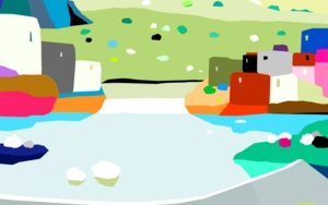 El embalse|IlustracióndeALEJOS| Compra arte en Flecha.es