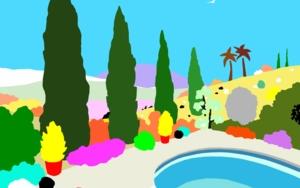 La piscina|DibujodeALEJOS| Compra arte en Flecha.es