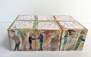 Rompecabezas de saludos. Libro de artista Obra gráficadeAna Valenciano  Compra arte en Flecha.es