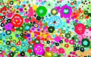 Jardín de flores|Obra gráficadeALEJOS| Compra arte en Flecha.es